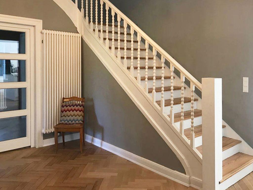 Rückgebaute Treppe.Abbruch alter Flur.